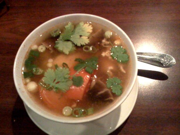 Tom Yum Gai (Thai Hot & Sour Chicken Soup). Photo by Chef #804596