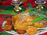 Gilded Saffron and Butter Basted Roast Turkey With Herb Garland. Recipe by French Tart