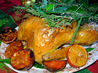 Gilded Saffron and Butter Basted Roast Turkey With Herb Garland