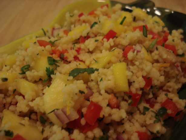 Spicy Tropical Couscous Salad. Photo by RunninLion