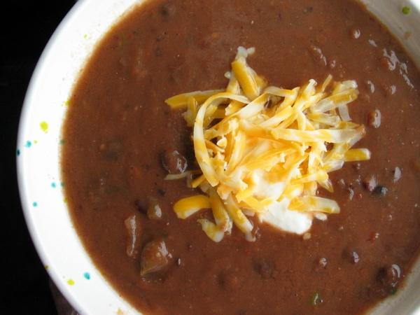 Easy Black Bean Soup. Photo by flower7