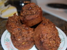Chocolate-Flecked Multigrain Muffins. Recipe by mikey & ev