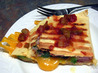Grilled Ham & Cheese Quesadillas. Recipe by Derf