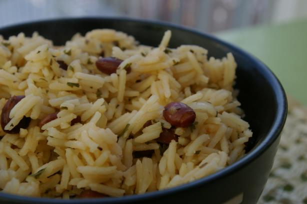 Dominican Moro De Habichuelas Negras  ( Rice and Beans). Photo by Redsie