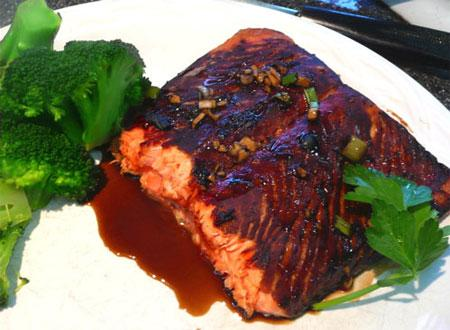 Honey Soy Salmon. Photo by Mikekey