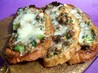 2bleu's Mushroom and Swiss  on Crostini Toast Appetizers