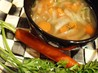 Carrot Top & Quinoa Soup. Recipe by kelly in TO