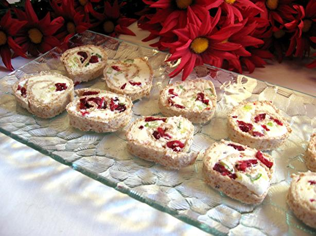 Simple & Delicious Cranberry Cream Cheese Pinwheels. Photo by Dreamer in Ontario
