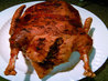 Roast Goose With Wild Rice-Chestnut Stuffing