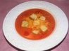 Creamy Tomato Cheese Soup With Croutons. Recipe by Seasoned Cook