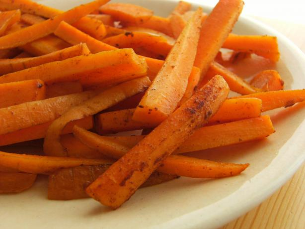 Spiced Carrot Strips. Photo by Lalaloula