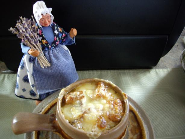 Grandpa Parker's French Onion Soup. Photo by Sage