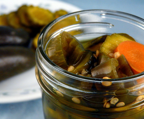 Fire and Ice Marinickles (No Canning Marinated Pickles). Photo by PaulaG