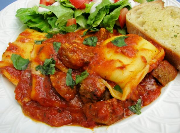 Ravioli and Meatball Bake. Photo by lazyme