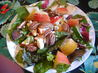 Mixed Greens Salad, Pears, Apple and Toasted Pecans. Recipe by Seasoned Cook