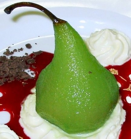 Midori Poached Pears. Photo by An_Net