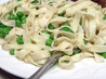 Buttered Fettuccini With Peas