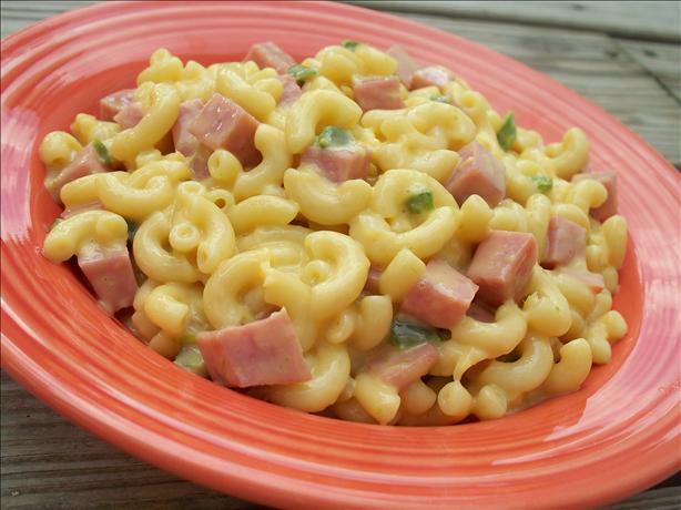mac and cheese with pineapple and ham