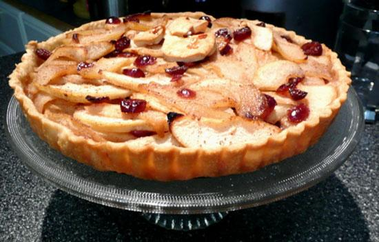 Cranberry Pear Tart. Photo by Mikekey
