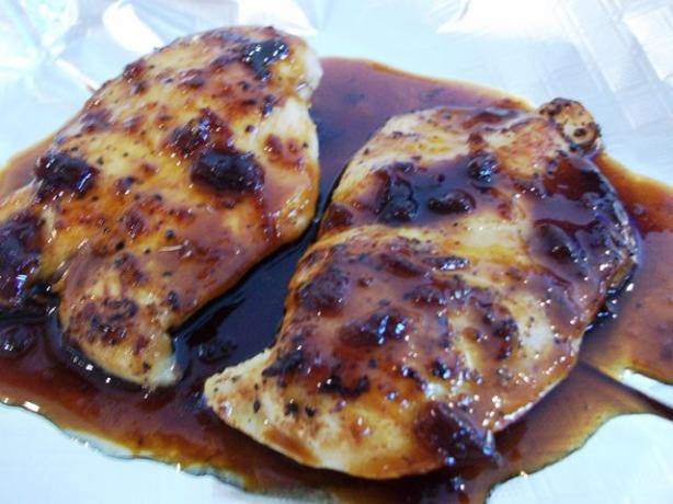 Chicken With Orange-Chipotle Glaze. Photo by 2Bleu
