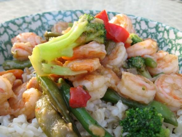 Simple Shrimp Stir Fry. Photo by MsSally