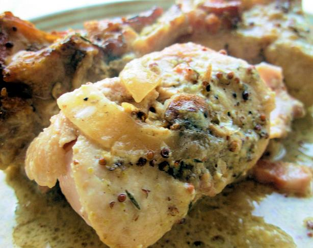 Rabbit in Stilton-Mustard Sauce. Photo by French Tart