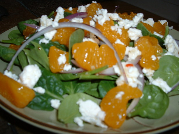 Mandarin, Spinach, and Feta Salad. Photo by Alison J.