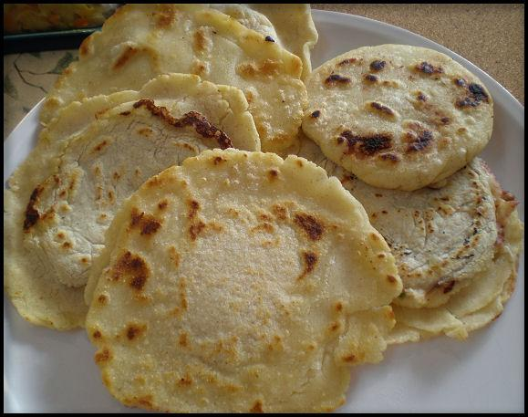 Authentic Salvadorean Pupusas. Photo by Sandi (From CA)