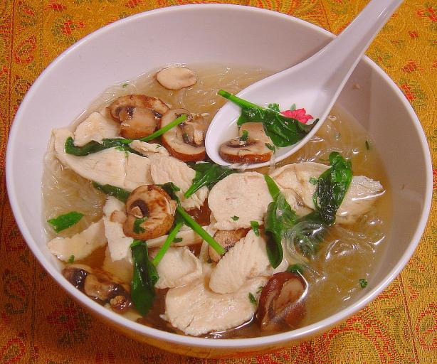 Easy Thai Chicken Noodle Soup. Photo by :(