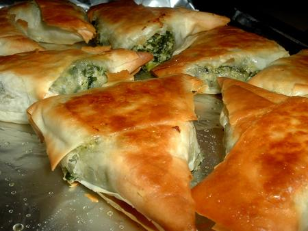 Greek Spinach Triangles. Photo by Bergy