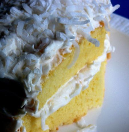 Bacardi Pina Colada Cake. Photo by Caroline Cooks