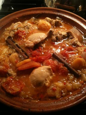 Spicy Chicken Tagine With Apricots, Rosemary, and Ginger. Photo by justbarbara