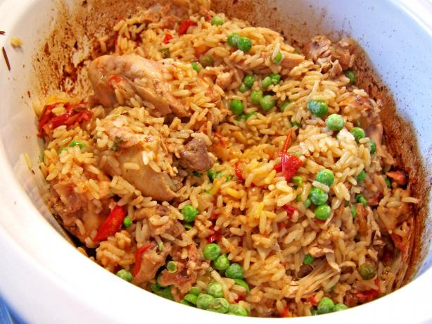 Slow Cooker Arroz Con Pollo. Photo by Rita~