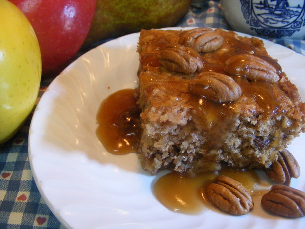 Apple Pudding Cake With Butterscotch Sauce. Photo by Seasoned Cook