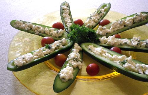Stuffed Cucumbers. Photo by Bergy
