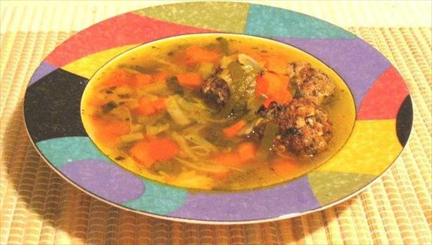 Turkey Albondigas Soup. Photo by Happy Hobbit