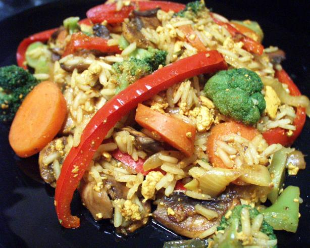 Scrambled Tofu With Veg and Basmati Rice. Photo by FLKeysJen