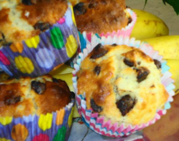 Banana Choc Chip Muffins. Photo by djmastermum