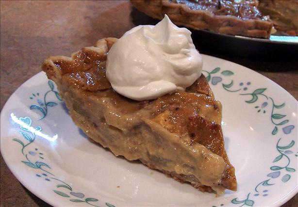 Peach Sour Cream Pie. Photo by PaulaG