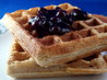 Cornmeal Sourdough Waffles. Recipe by PaulaG