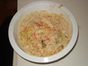 Mexican Seafood Fettuccine. Recipe by Alley Barbie