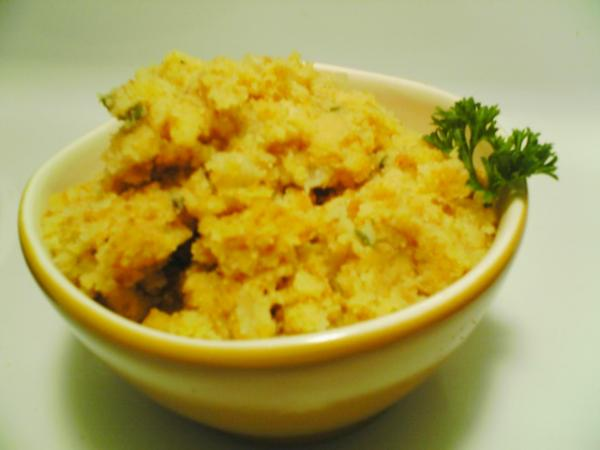 Caramelized Onion and Cornbread Stuffing. Photo by 2Bleu