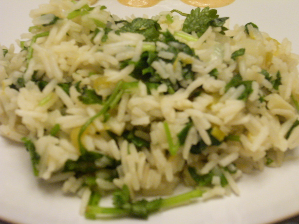 Cilantro Rice. Photo by cyaos