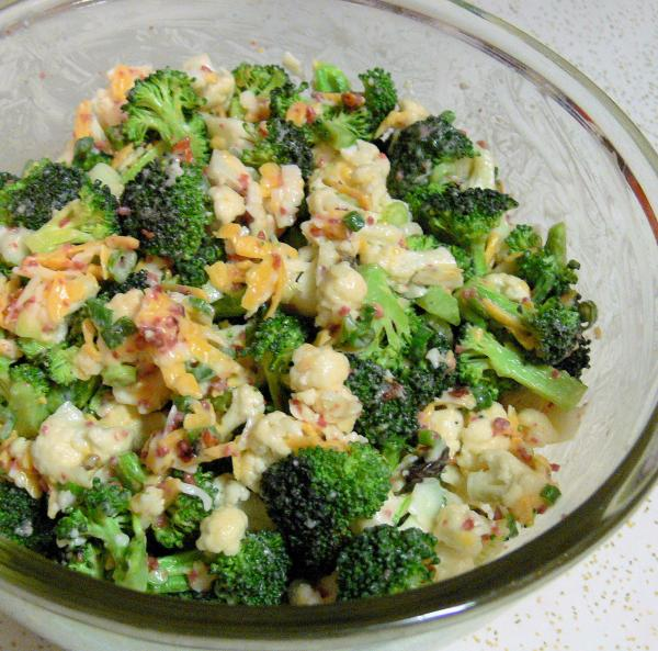 Broccoli,cauliflower Salad. Photo by Miss Annie in Indy