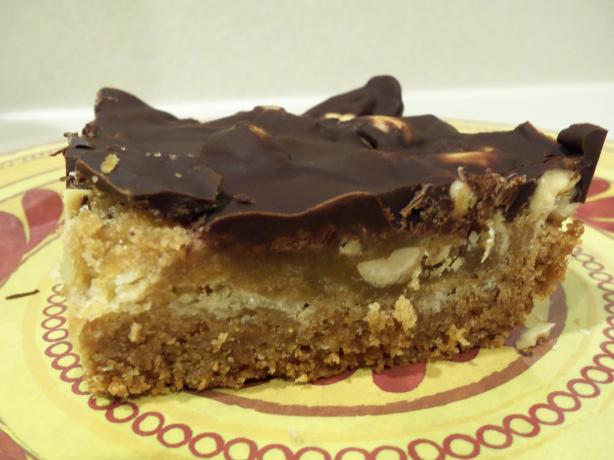 Chocolate Topped Peanut Toffee Bars (Cookie Mix). Photo by AZPARZYCH
