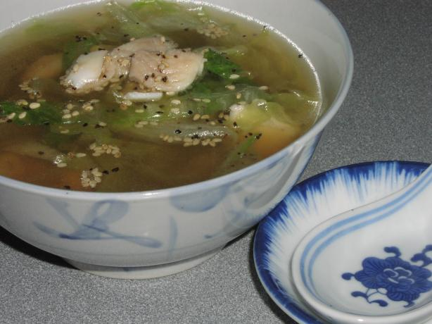Chinese Fish and Lettuce Soup. Photo by TeresaS
