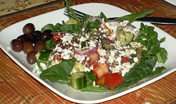 Kittencal's Greek Garden Salad With Greek-Style Dressing. Photo by Chef Joey Z.