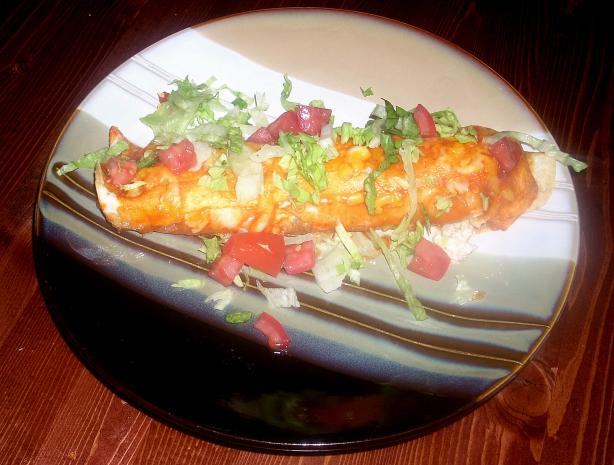 Sour Cream Beef Enchiladas. Photo by Lil' Miss Nikki