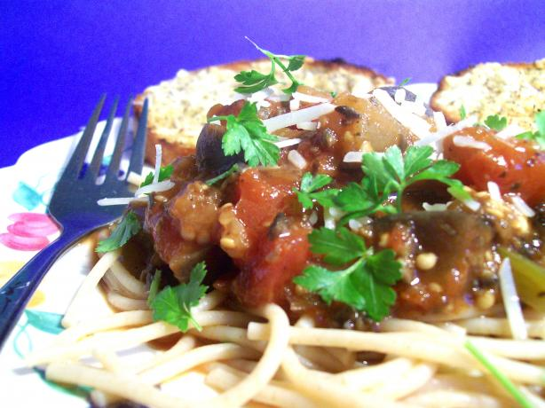 Eggplant Pasta Sauce. Photo by Sharon123