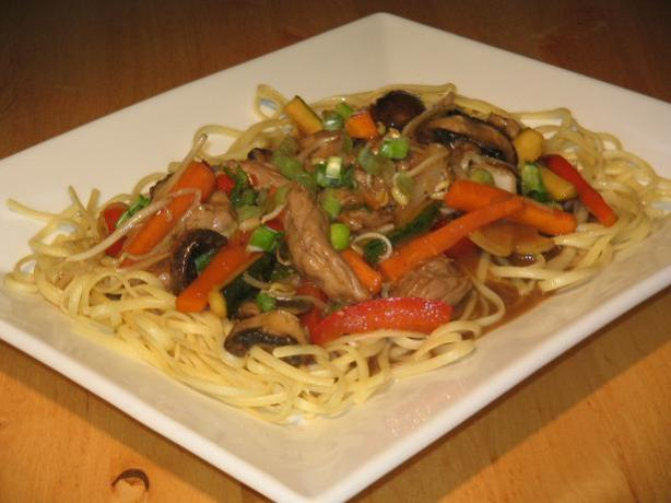 Authentic Pork Lo Mein - Chinese. Photo by The Flying Chef